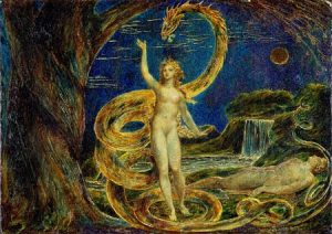 William Blake's painting 'Eve Tempted by the Serpent'