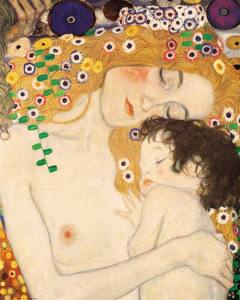 Three Ages of Woman - Mother and Child by Gustav Klimt