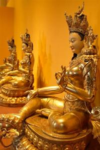 Tara Statues (3 of 21) in the shrine at Tara Mandala in Colorado