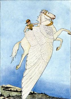 Bellerophon riding Pegasus