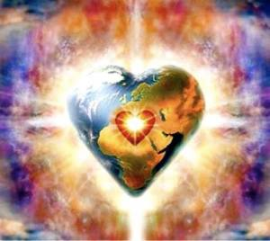 Photo heart world