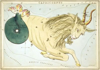 Depiction of Western astrological constellation Capricorn