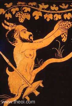 Ancient Greek God Pan, also equated with Roman God Faunus