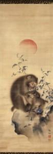 monkey-painting-mori-sosen-edo-era-at-british-museum
